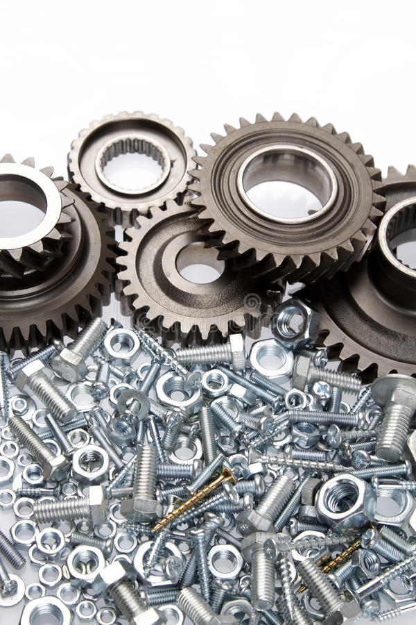 Download Gears stock image. Image of parts, nuts, bolts, indoors - 28541005
