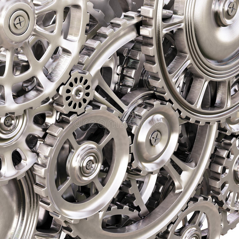 Gears. Abstract background of the metal gears royalty free illustration