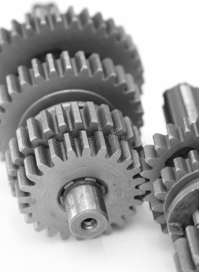 Gears. Gear cogs in connection stock photos