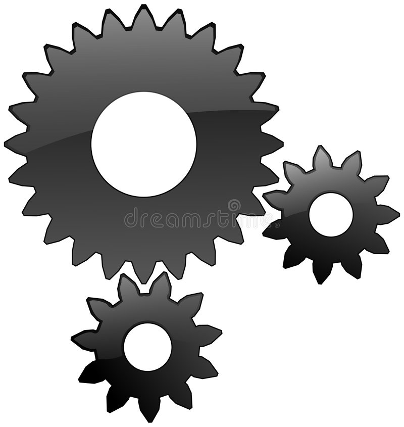 Gears royalty free illustration