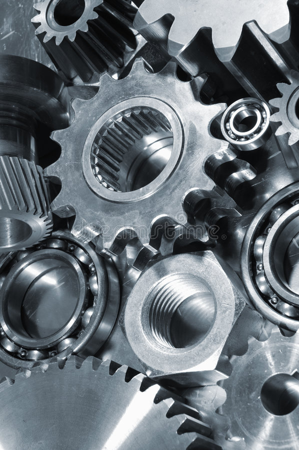 Free Gears And Pinions In Blue Stock Photos - 4009443