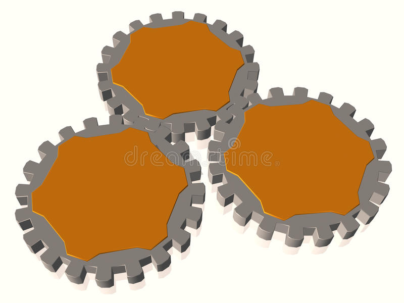 Download Gears as text boxes stock illustration. Illustration of industry - 13324948