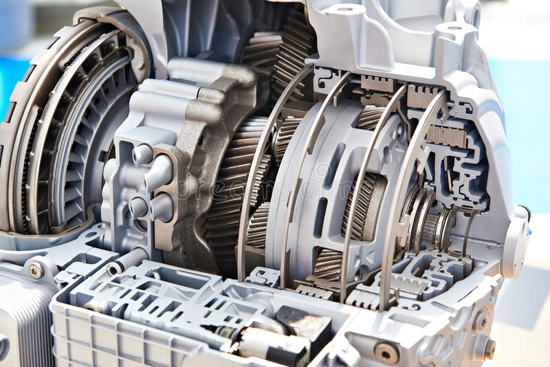 Gears of automatic transmission stock photos