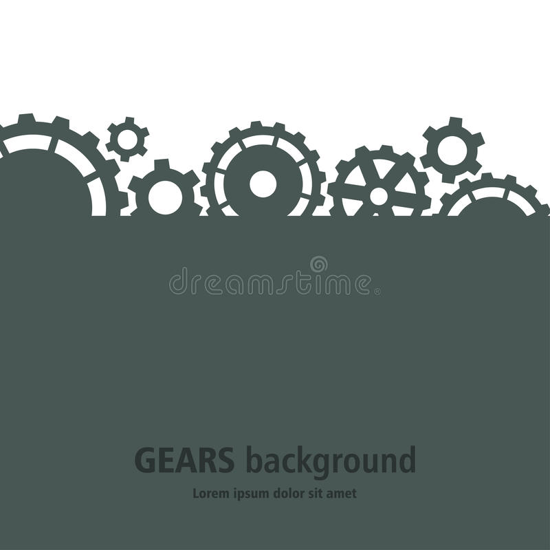 Gears background. vector illustration
