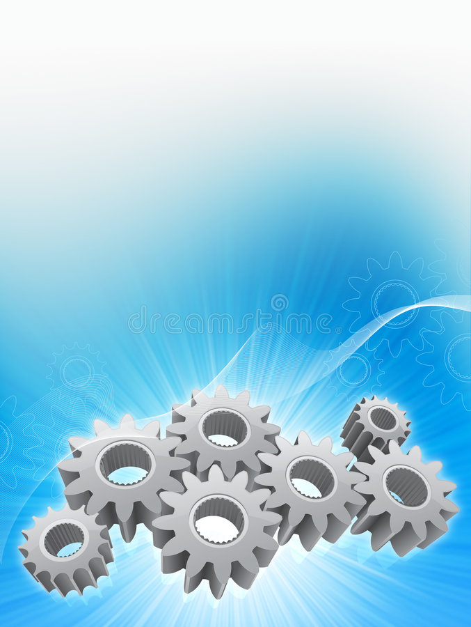 Gears background royalty free illustration