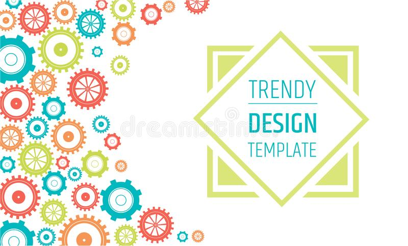 Gears Banner Design Template   Innovation, Ideas And