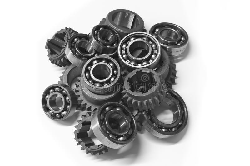 The gears and bearings. stock photo