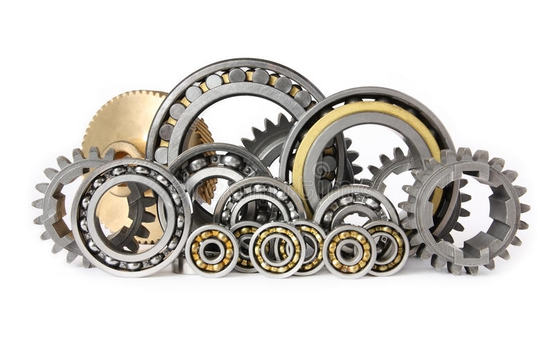 The gears and bearings royalty free stock photo