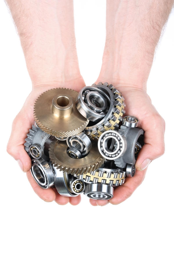 The gears and bearings stock images