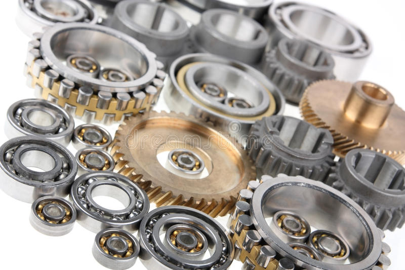 Gears and bearings stock images