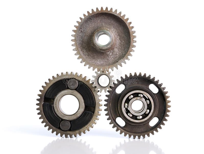 Gears and bearings royalty free stock images