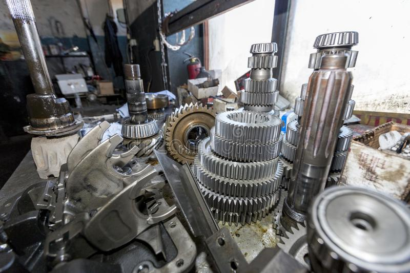 Gears and bearings gearbox car. Russia stock images