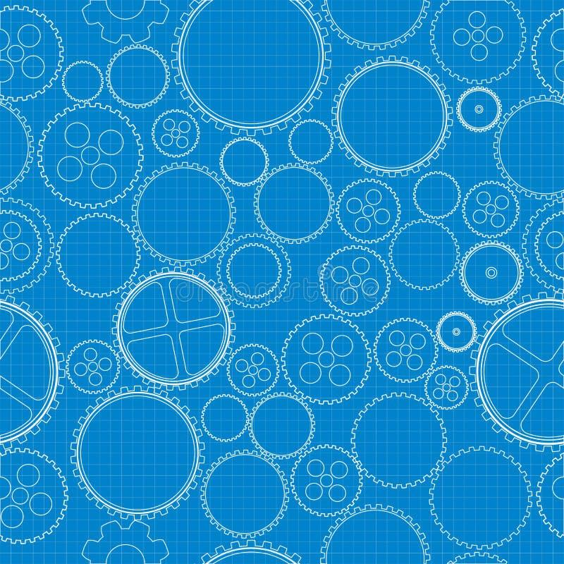 Download Gears blueprint stock vector. Image of business, modern - 28471401