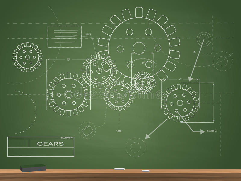 Gears blueprint chalkboard illustration stock vector illustration download gears blueprint chalkboard illustration stock vector illustration of abstract design 56622336 malvernweather Gallery