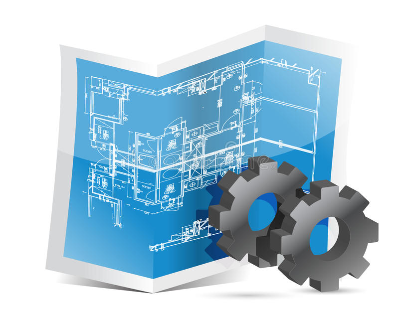 Download Gears Blueprint Graphic Royalty Free Stock Photos - Image: 28552658