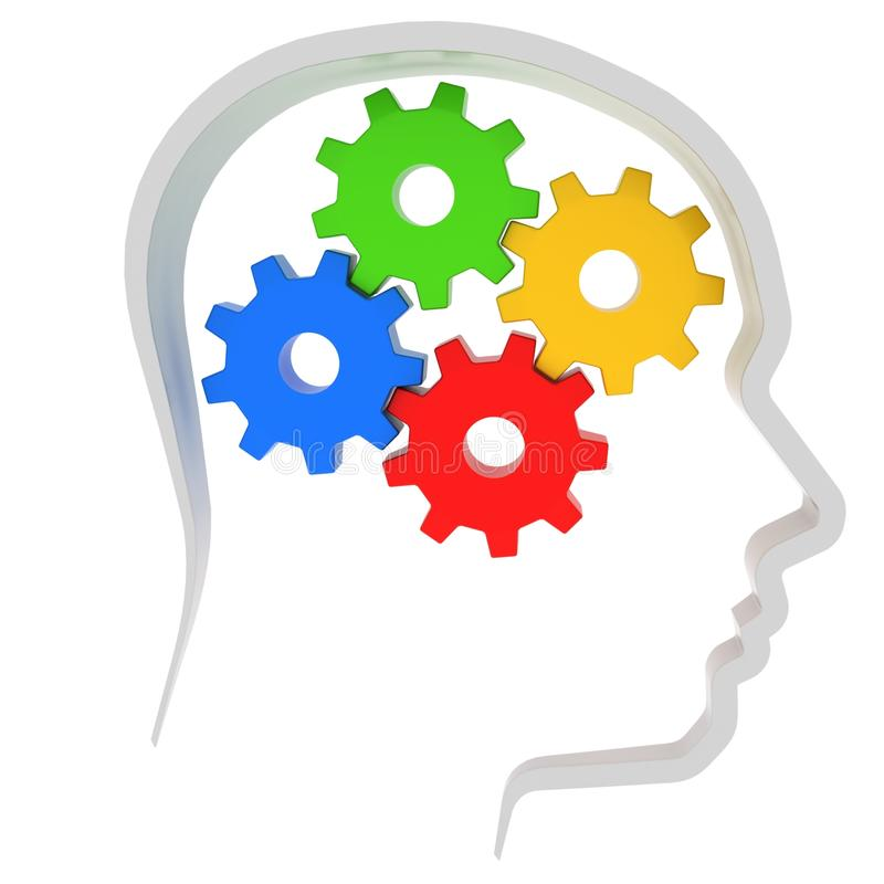 Download Gears Instead Of Brain In The Human Head Stock Illustration - Image: 15794625