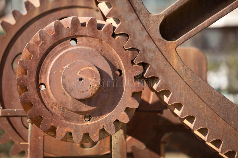 Gears close-up royalty free stock photography
