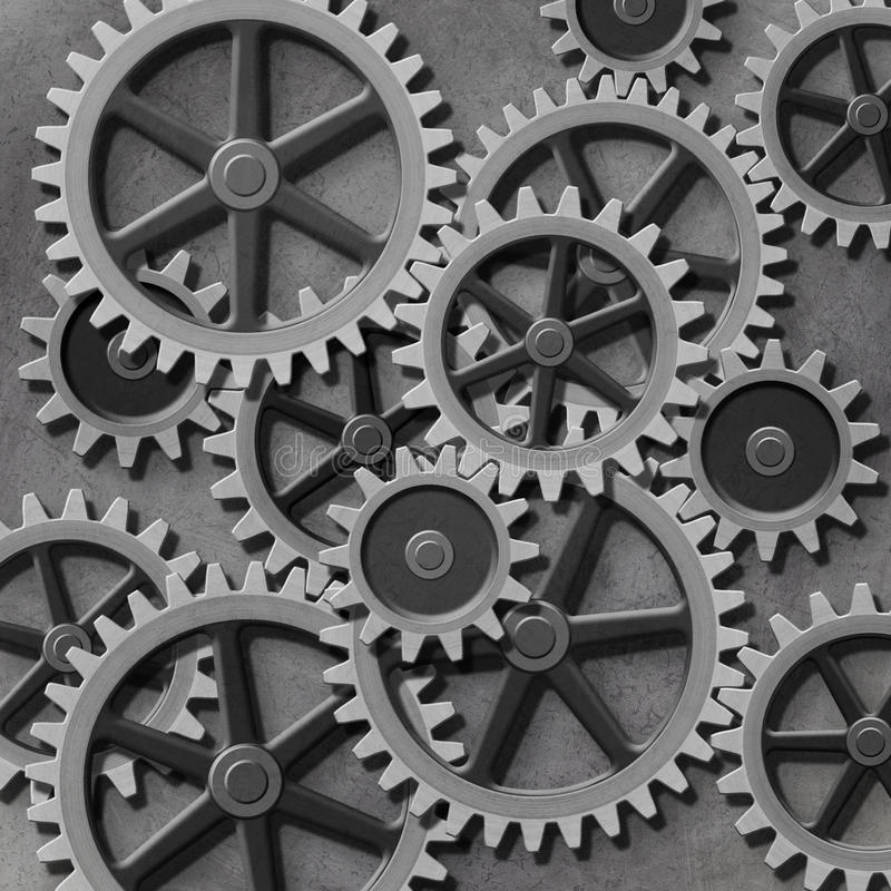 Gears and Cogs stock illustration