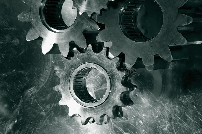 Gears And Cogs In Bronze Free Stock Images