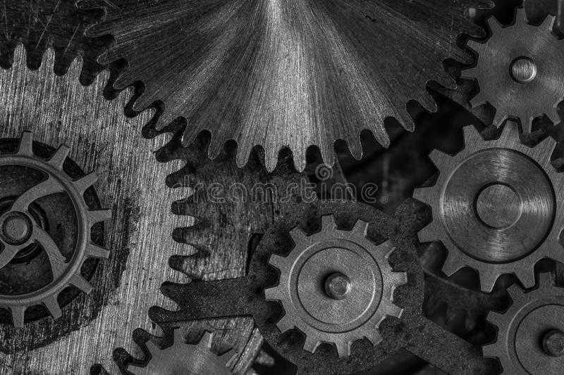Gears and cogwheels 3d illustration royalty free stock image