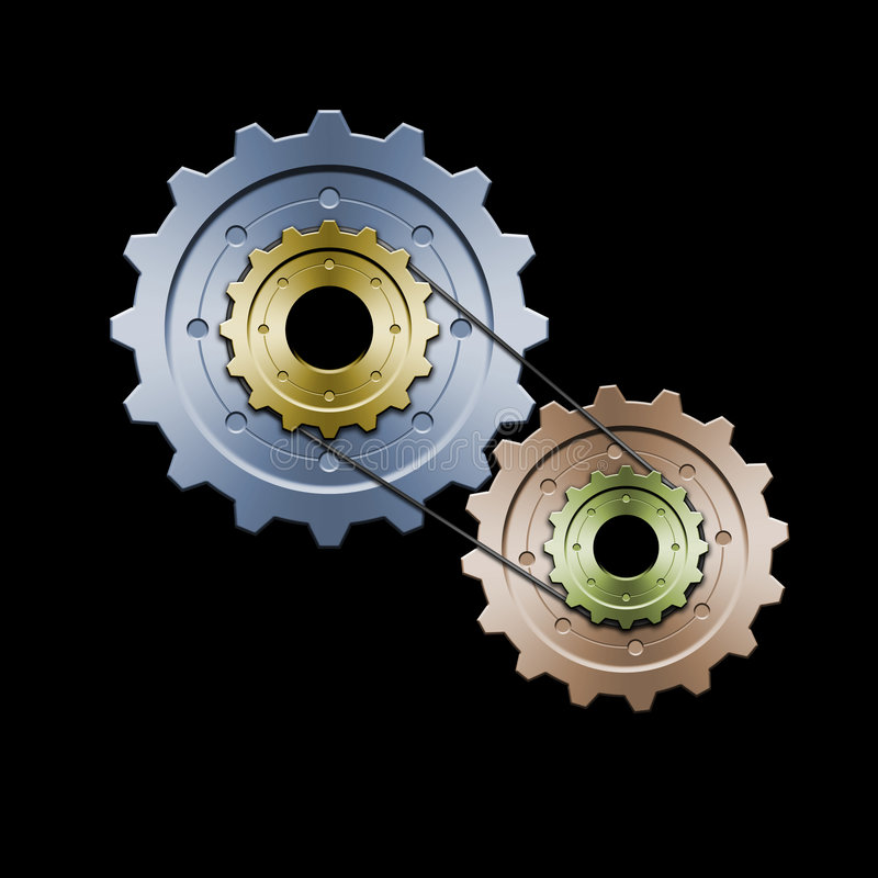 Gears (Color version) vector illustration
