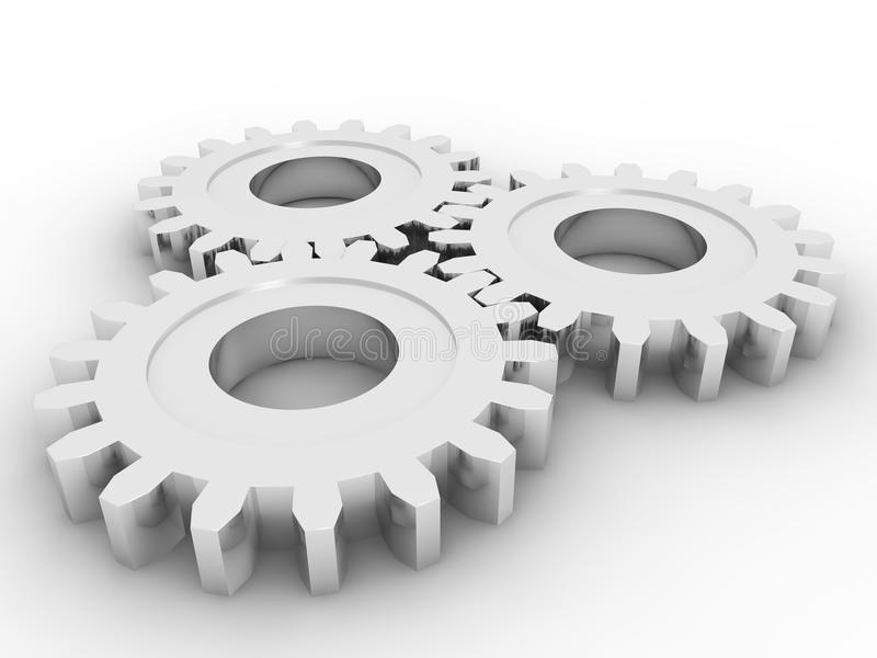 Gears concept royalty free illustration