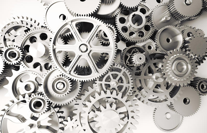Gears concept. Quality 3d render vector illustration
