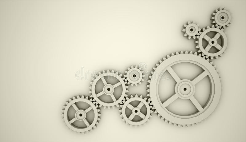 Gears concept gold stock photography
