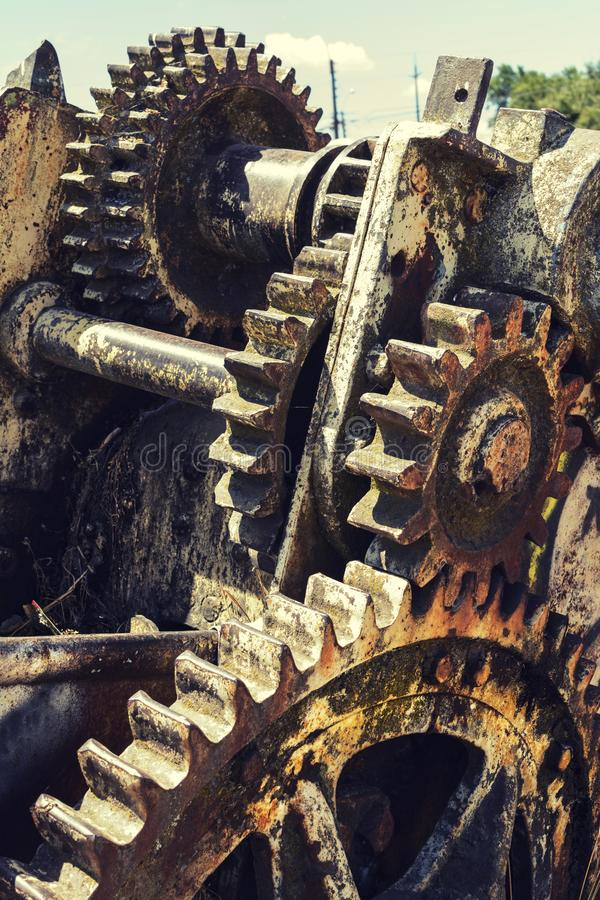 Gears corroded by rust stock photo