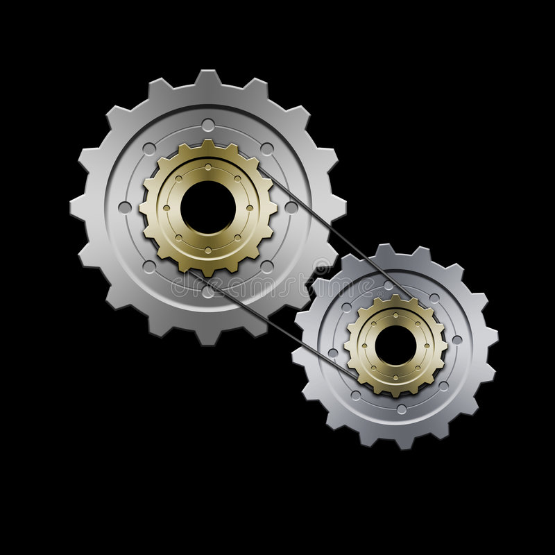 Gears (Grey) royalty free illustration