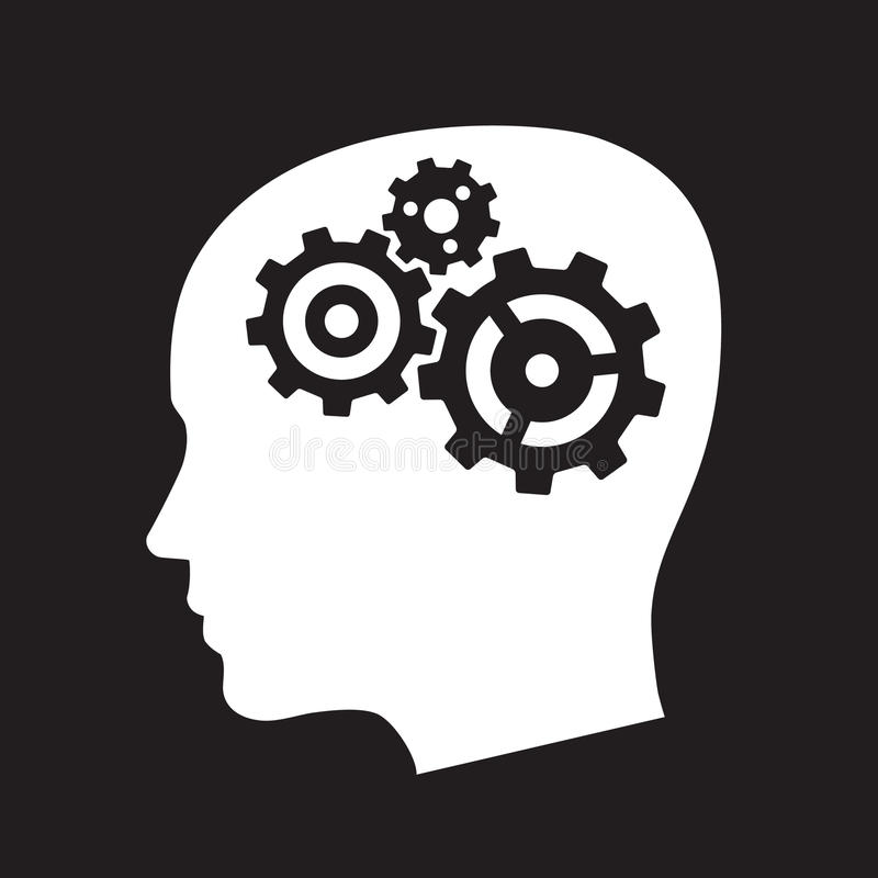 Gears in the head vector illustration