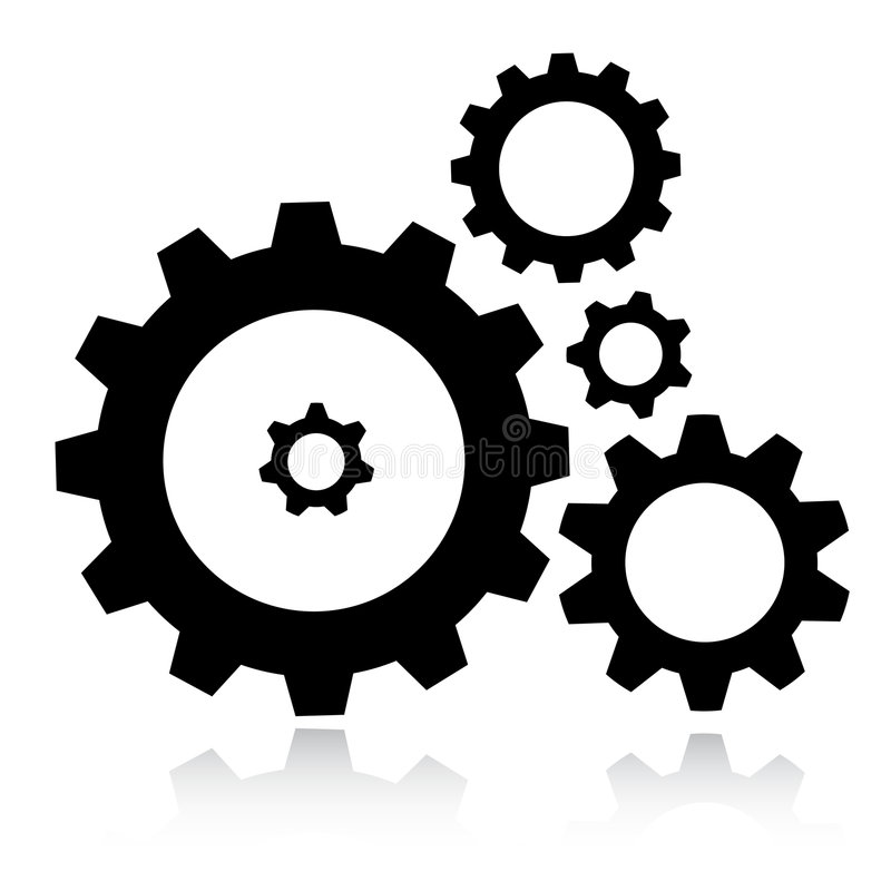 Gears icon. Vector gears icon. Simple change vector illustration