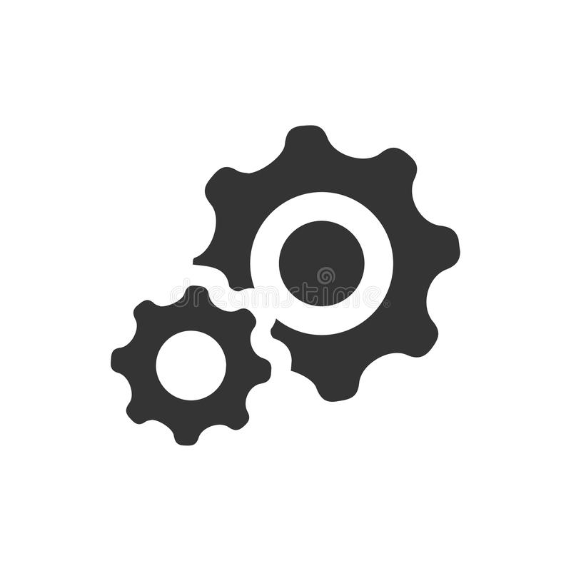 Gears icon. Beautiful, meticulously designed Gears icon. Perfect for use in designing and developing websites, printed materials and presentations, Promotional stock illustration