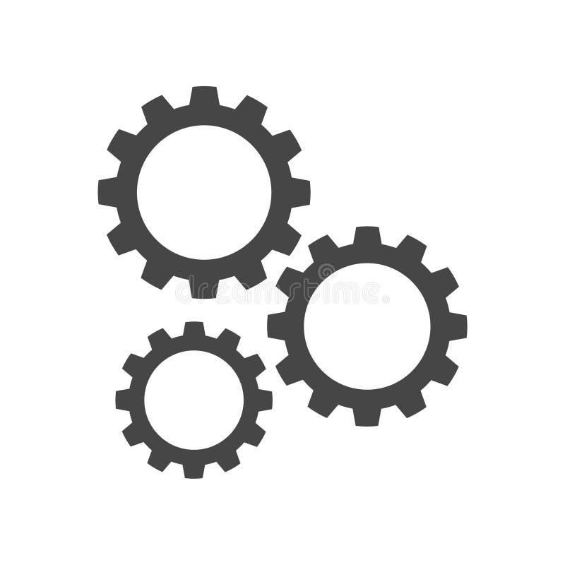 Gears icon. Simple vector icon vector illustration