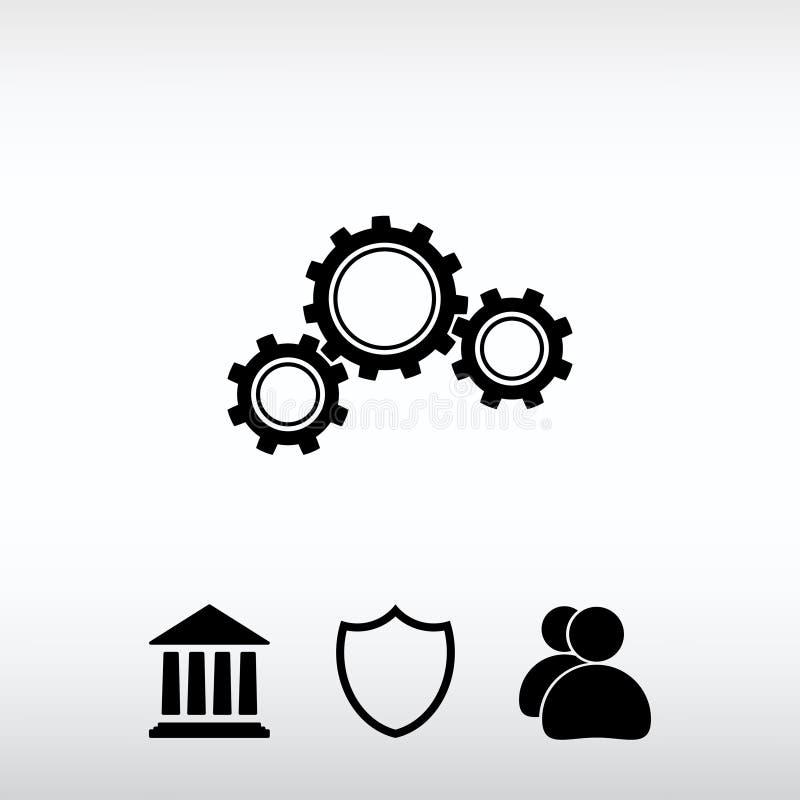 Gears icon, vector illustration. Flat design style stock photo