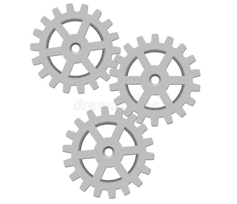 gears illustrationvektorn vektor illustrationer