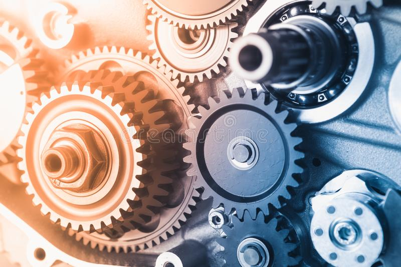 Gears industrial background royalty free stock images