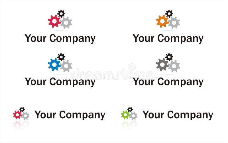 Gears logo element stock illustration