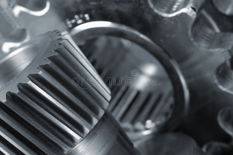 Gears machinery abstract royalty free stock photos