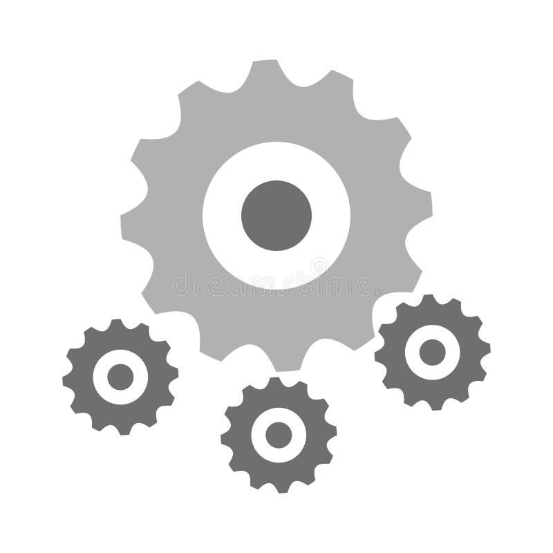 Gears machinery piece. Symbol vector illustration graphic design vector illustration