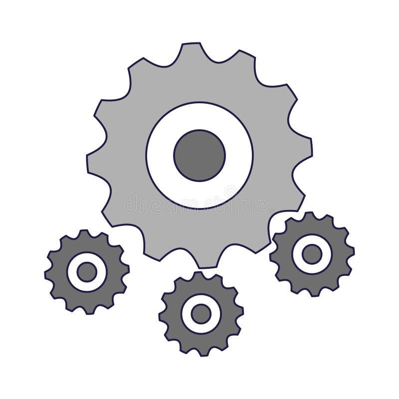 Gears machinery piece. Symbol vector illustration graphic design stock illustration