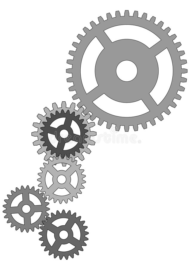 Gears Of The Mechanism Royalty Free Stock Image
