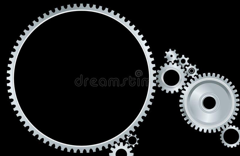Gears mechanism. Vector illustration of gears in motion
