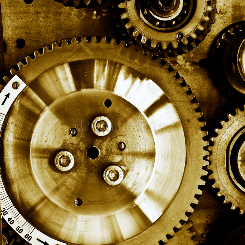 Gears From Mechanism Stock Image