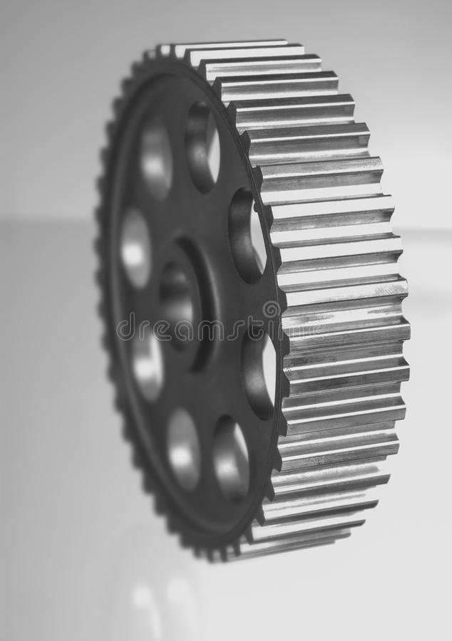 Gears of mechanisms. On a white background royalty free stock photos