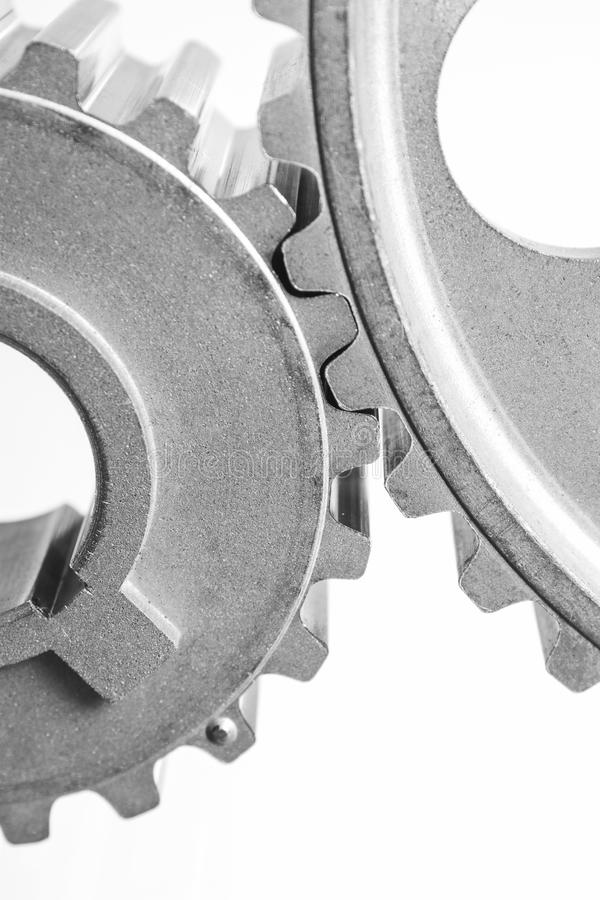 Gears of mechanisms. On a white background royalty free stock photo