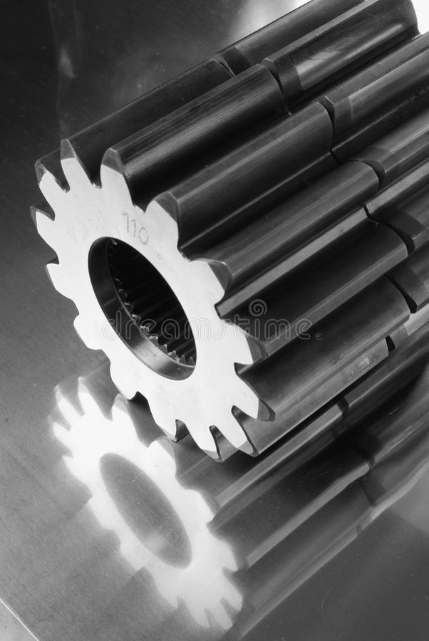 Gears in monochrome stock photo