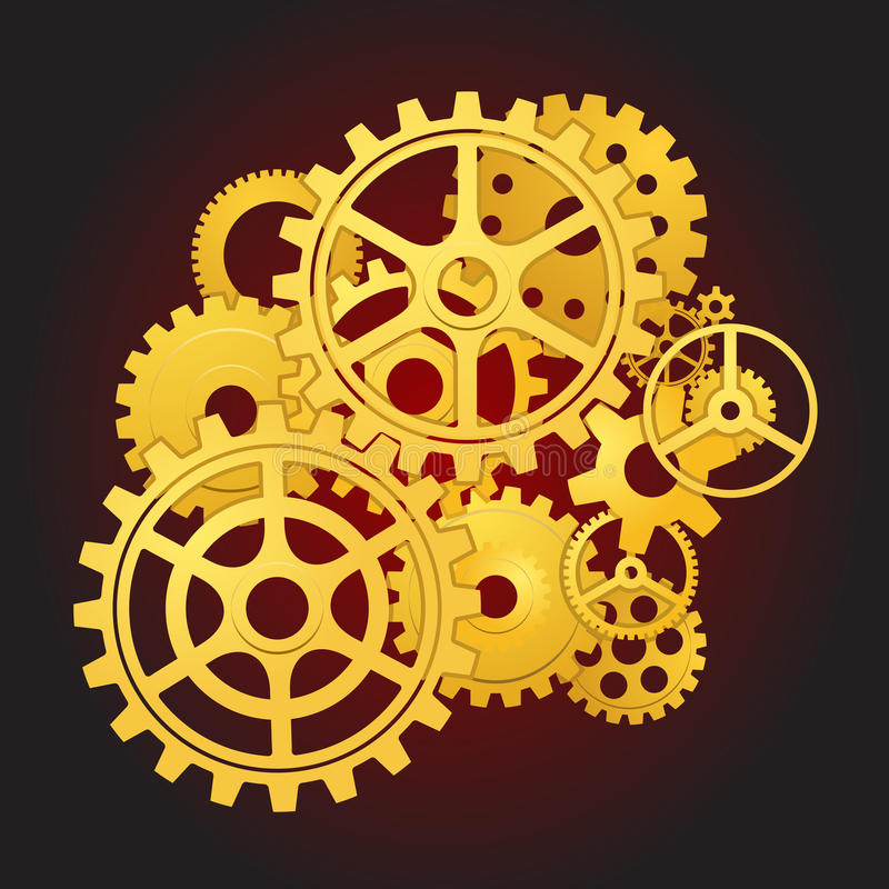 Download Gears in motion stock vector. Image of cooperation, machine - 13200896