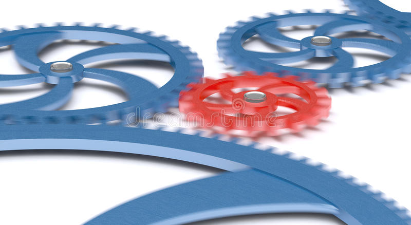 Gears in movement stock illustration