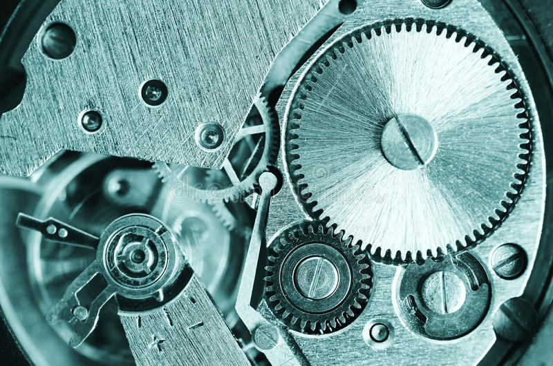 Gears old mechanical watches. royalty free stock photo